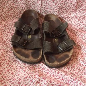Birkenstock two strap flexible leather sandals